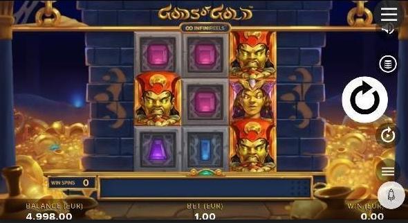 Gods of Gold Infinireels Slot mobil