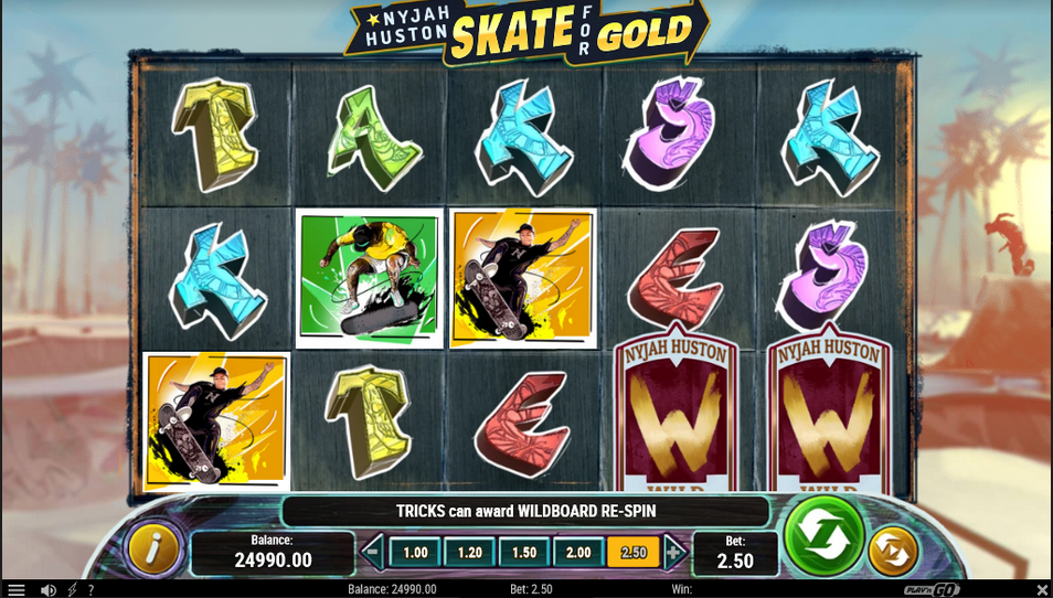 Nyjah Houston: Skate for Gold Slot