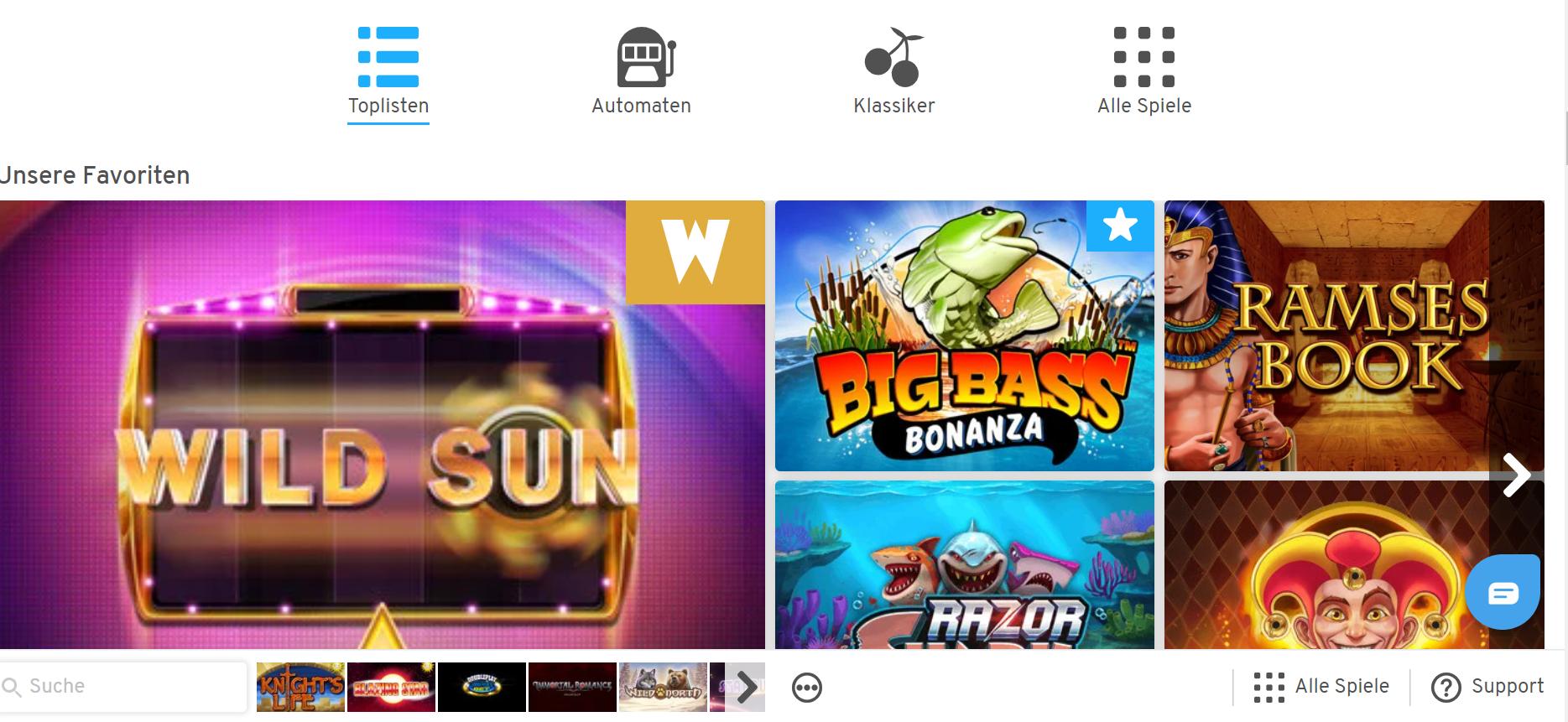 Wunderino Spiele Online-Spielothek