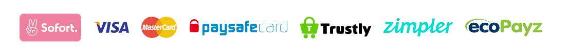 Wunderino Online-Spielothek Zahlungsmethoden