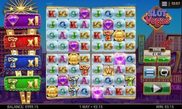 Slot Vegas Megaquads Mobil