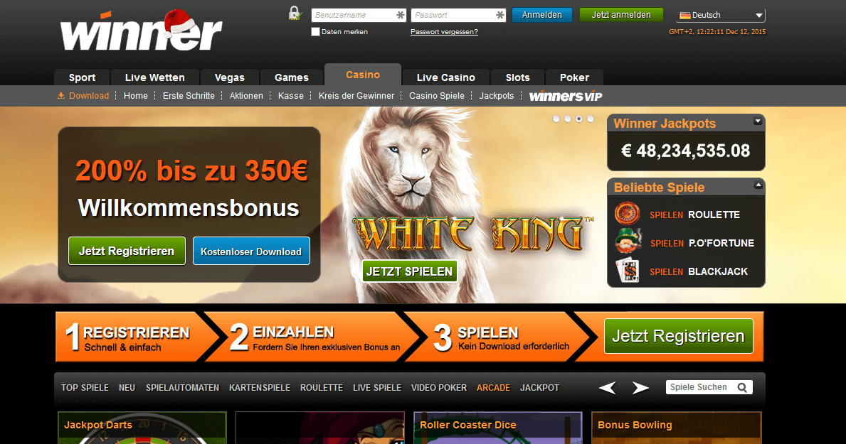 Winner Casino 30 Euro Bonus