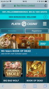 Platincasino App