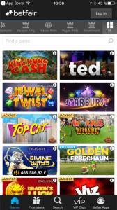betfair arcade app