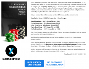 Luxury Casino Bonus