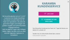 karamba support