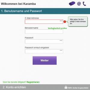 Karamba-Anmeldung1