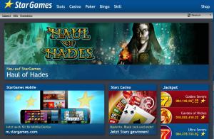 Stargames-Startseite